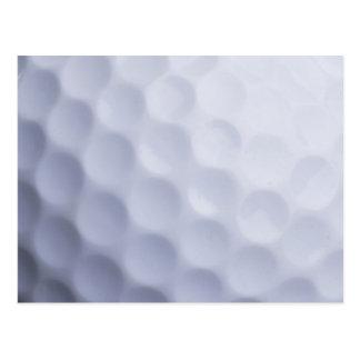 Cartão Postal Modelo personalizado fundo da bola de golfe