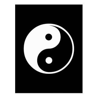 Cartão Postal Modelo preto e branco da ilustração de Yin Yang
