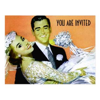 Cartão Postal Modelo wedding personalizado