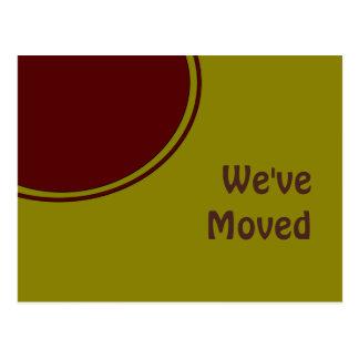 Cartão Postal Moderno nós movemo-nos