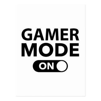 Cartão Postal Modo do Gamer sobre