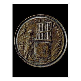 Cartão Postal Moeda romana que descreve um órgão