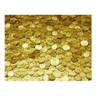 Cartão Postal moedas de ouro