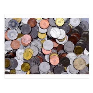Cartão Postal moedas romenas