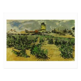 Cartão Postal Moinho de Alphonse Daudet, Vincent van Gogh