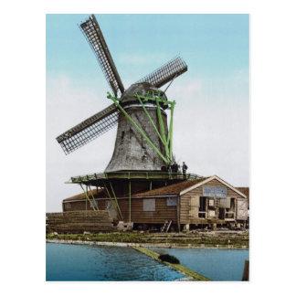 Cartão Postal Moinho de vento de Holland