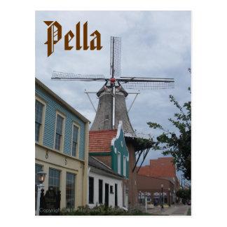 Cartão Postal Moinho de vento de Vermeer, vila histórica, Pella,