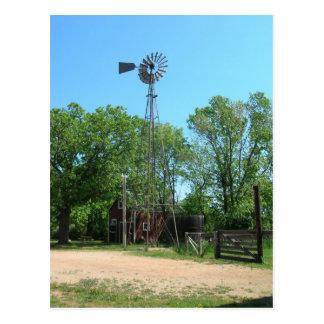 Cartão Postal Moinho de vento e fazenda