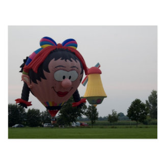 Cartão Postal Moinho de vento especial da menina do balão
