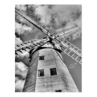 Cartão Postal Moinho de vento Essex Inglaterra de Upminster