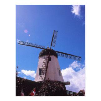 Cartão Postal Moinho de vento holandês, Solvang CA