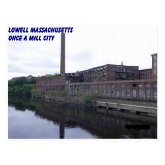 Cartão Postal Moinhos de Lowell Massachusetts