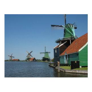 Cartão Postal Moinhos de vento de Zaanse Schans em Holland