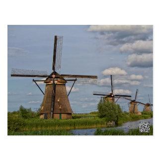 Cartão Postal moinhos de vento do local do património mundial de