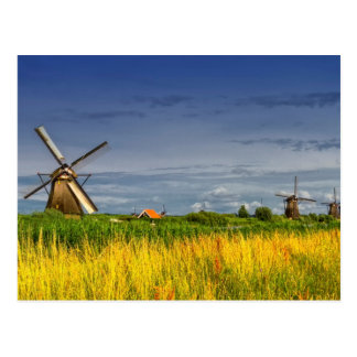 Cartão Postal Moinhos de vento em Kinderdijk, Holland, Países