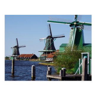 Cartão Postal Moinhos de vento holandeses de Zaanse Schans em