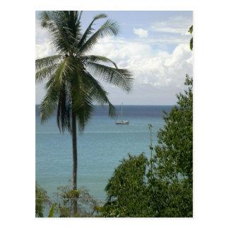 Cartão Postal Moira na âncora, Baía Drake, Costa Rica