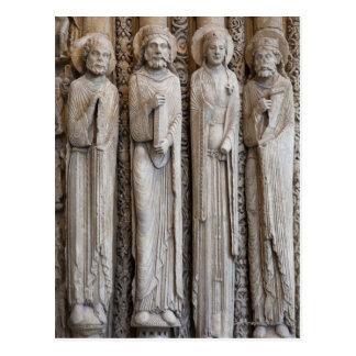 Cartão Postal moldes das estátuas da fachada de Chartres