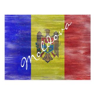 Cartão Postal Moldova afligiu a bandeira moldava