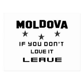 Cartão Postal Moldova se você não o ama, sae