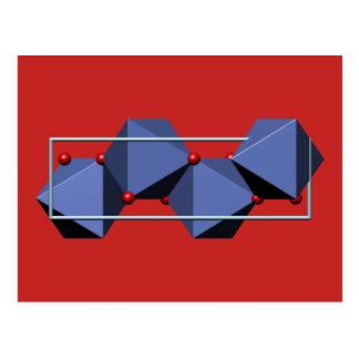 Cartão Postal Molécula do Goethite