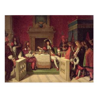 Cartão Postal Moliere que janta com Louis XIV 1857