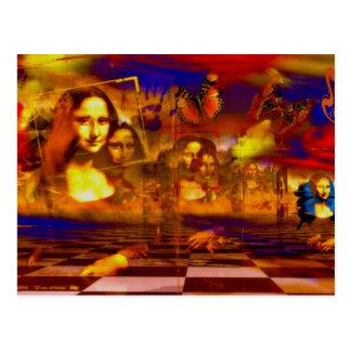 Cartão Postal Mona Lisa