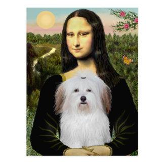 Cartão Postal Mona Lisa - algodão De Tulear