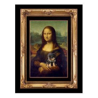 Cartão Postal Mona Lisa e seu Rottweiler