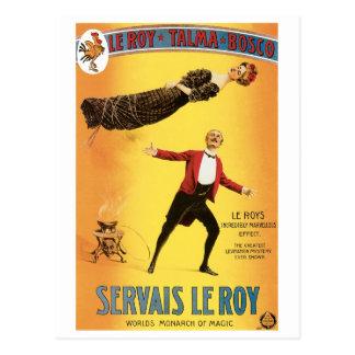 Cartão Postal Monarca do vintage do ~ de Servais Le Roy do ato