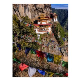 Cartão Postal Monastério do ninho do tigre, Bhutan
