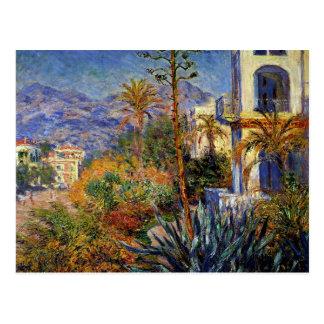 Cartão Postal Monet - casas de campo em Bordighera