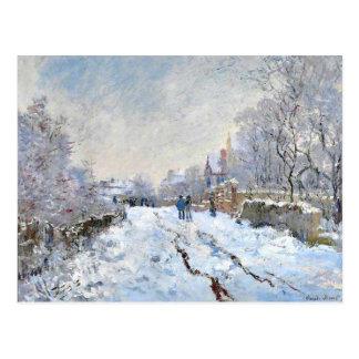 Cartão Postal Monet - cena da neve em Argenteuil