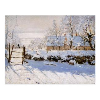 Cartão Postal Monet - Magpie