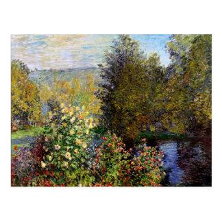 Cartão Postal Monet - um canto do jardim em Montgeron