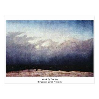 Cartão Postal Monge pelo mar por Caspar David Friedrich