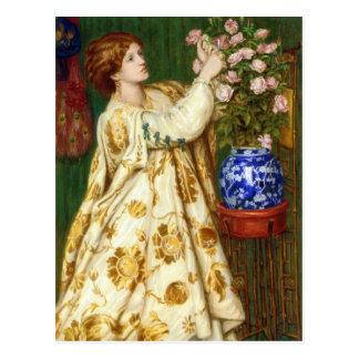 Cartão Postal Monna Rosa por Dante Gabriel Rossetti