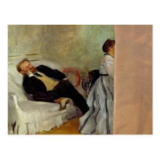 Cartão Postal Monsieur de Edgar Degas | e senhora Edouard Manet
