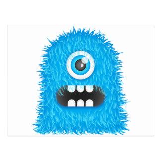Cartão Postal Monstro azul