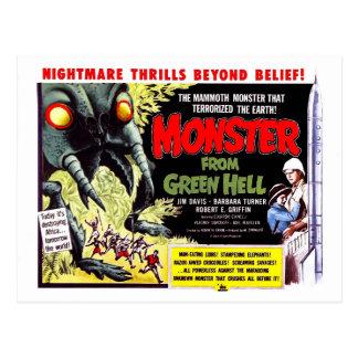 Cartão Postal Monstro do inferno verde
