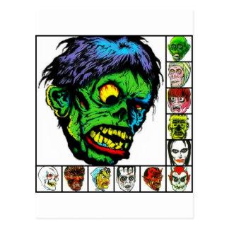 Cartão Postal Monstro retros do monstro