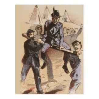 Cartão Postal Montada na vida da guerra civil do trilho