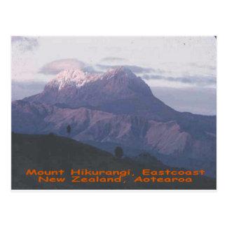 Cartão Postal Montagem Hikurangi, Nova Zelândia, Aotearoa