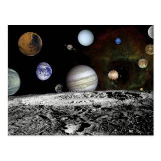 Cartão Postal Montagem planetário