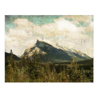Cartão Postal Montagem rústica antiga Rundle