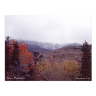 Cartão Postal Montagem Washington New Hampshire