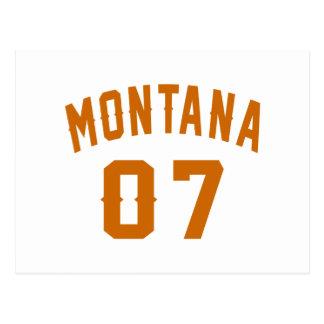 Cartão Postal Montana 07 designs do aniversário