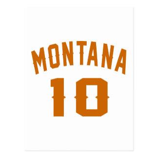 Cartão Postal Montana 10 designs do aniversário