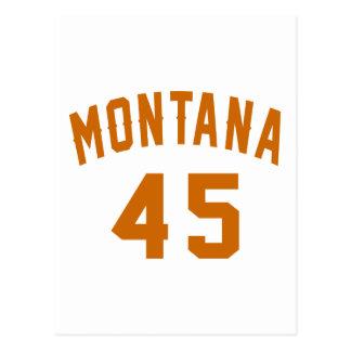 Cartão Postal Montana 45 designs do aniversário