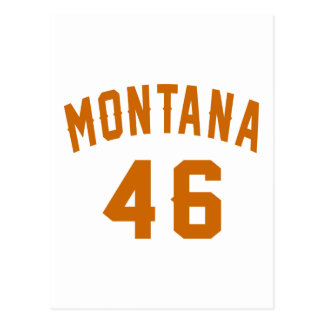 Cartão Postal Montana 46 designs do aniversário